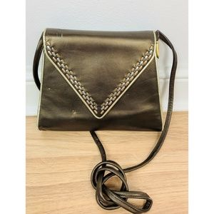 Bally Brown Cross-body Vintage Leather Handbag